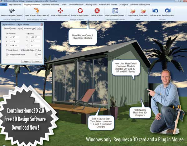 ... Shipping Container Home Design Software To Version 2.0. Screen ...