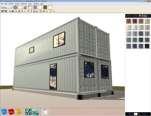 Shipping container model homes