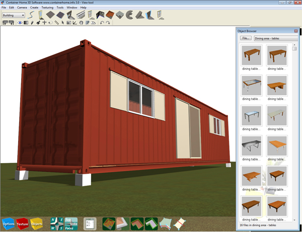 Download The Model Into A Folder Open The 3d Container Home Software And Use File Open To Select That Folder And Saved File Double Click To Open In The