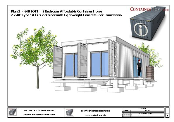 Container Homes Plan Series Plan 1 2 X 40 Shipping Container Home Plans How To Plan Design And Build Your Own House Out Of Cargo Containers
