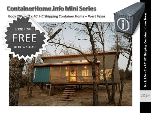 Shipping Container Homes Book Series Book 204 Shipping Container Home Plans How To Plan Design And Build Your Own House Out Of Cargo Containers
